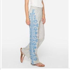 NEW • Johnny Was • Baja Palazzo Pants Embroidered